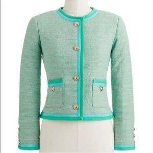 J. Crew Spearmint Tweed Blazer